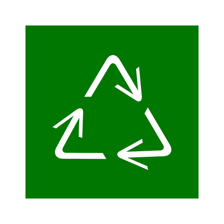 recycling symbol of ecologically pure funds, set of arrows Stock Illustratie