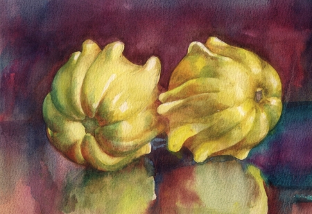 reflection of life: Watercolor Flora Collection  Pumpkins