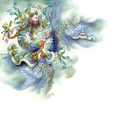 corona navidad: Alegor�a de Invierno