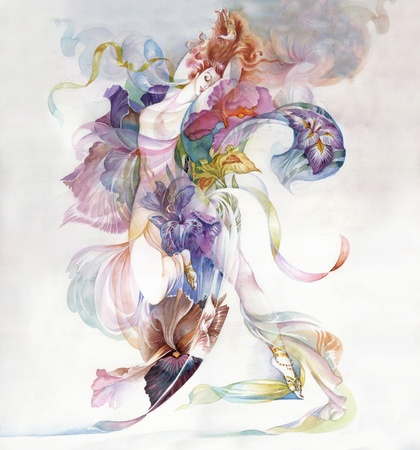 Alegoria da Iris Flor Banco de Imagens