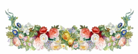 white victorian old retro vintage: Roses Garland
