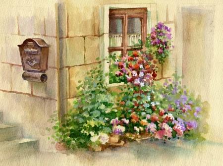 Flowers on the window