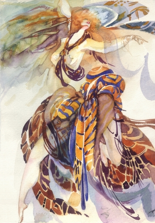 femme papillon: All�gorie de Paradise Bird