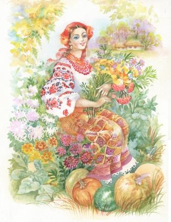 Ilustra��o Aquarela Banco de Imagens