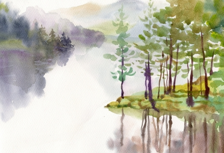 Aquarelle Collection du paysage photo