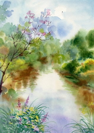 Collection Paysage Aquarelle photo