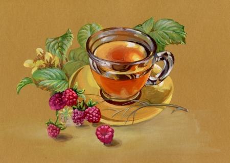 tannin: tea and raspberry