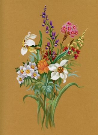 Aquarela Flora Cole��o: Summers Bouquet