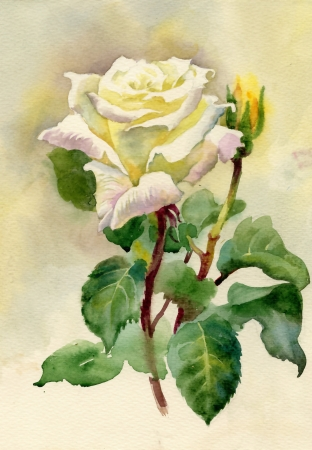 wash painting: Watercolor Roses