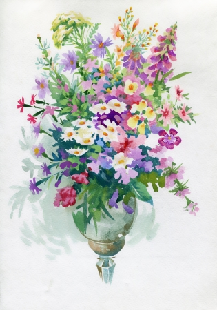 Bouquet com camomiles e Dianthus Flores