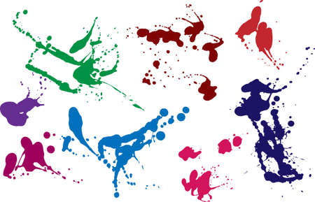 blots and splashes in color for the decor, design and brushes