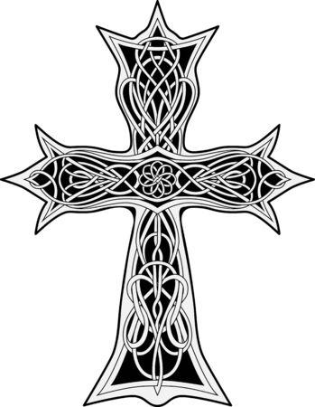 image of cross in celtic style Иллюстрация