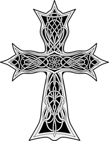 image of cross in celtic style Vectores