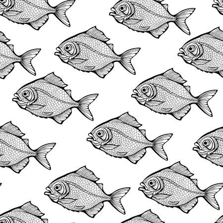 Pattern of black and white fishes.
