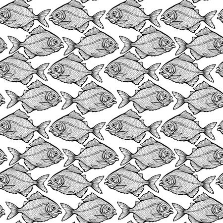 Pattern of symmetrical black and white fishes.