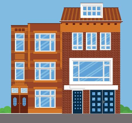 Image 2 of two combined townhouses. Illustration