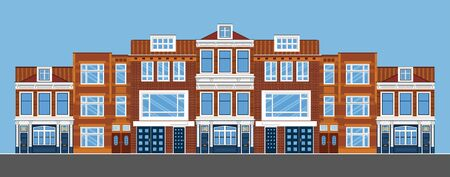 townhouses. Flat style. Illustration