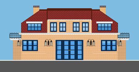 Image of two-storey villa.