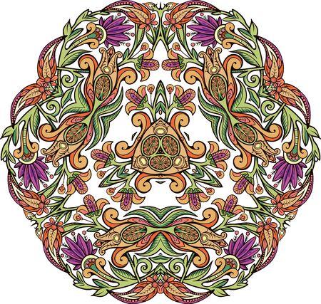 Floral decorative element in mandala