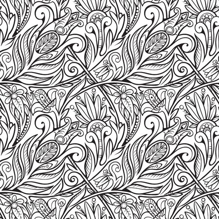 Seamless floral pattern. Composition 2.