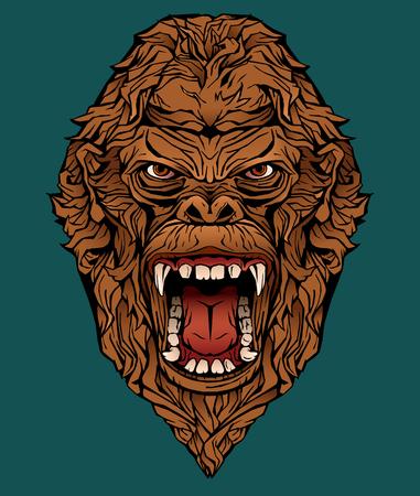 image of an angry gorilla. Фото со стока - 116083372