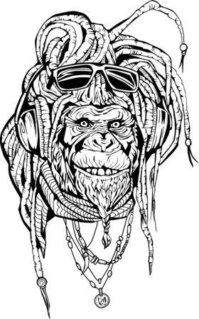 Portarit of club DJ rasta mokey