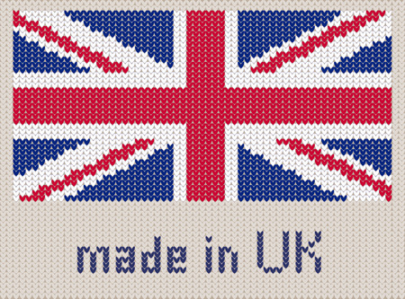 Union Jack Knitted Pattern Uk Flag Modern Vector Ornament
