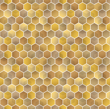 Honeycomb vector background. Seamless pattern with colored hexagons.