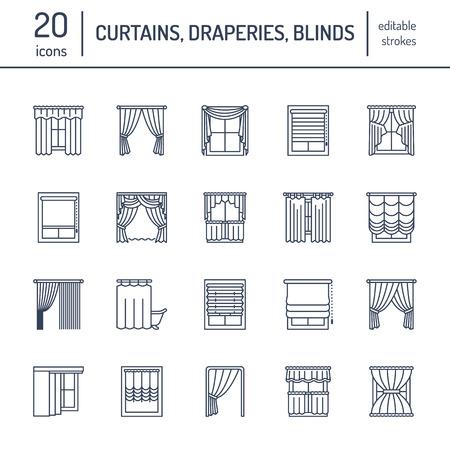 cenefas: cortinas de la ventana, las cortinas se alinean los iconos. Decoración Otros sala de oscurecimiento, lambrequines, swag, cortina francés, persianas y paneles laminados.