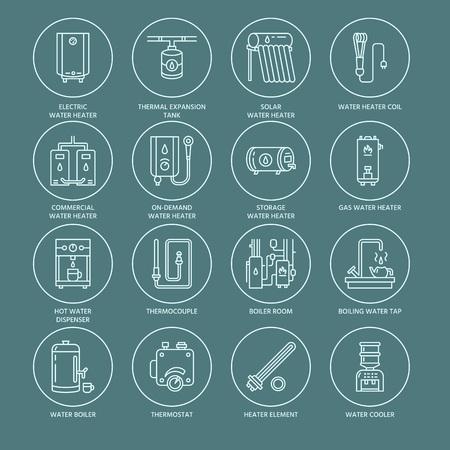 Dun lineair pictogram met bewerkbare slagen van hardwareopslagpictogrammen en huishoudapparaten.