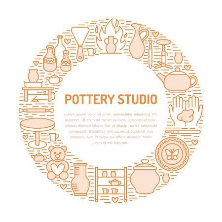 Ilustración de vector de banner de cerámica