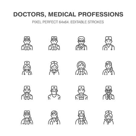 Doctors avatar vector