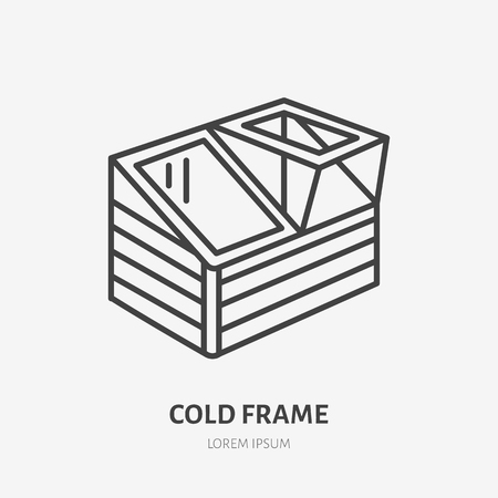 Cold frame flat line icon