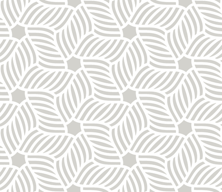 Abstract simple geometric vector seamless pattern with white line texture on grey background. Light gray modern wallpaper, bright tile backdrop, monochrome graphic element.