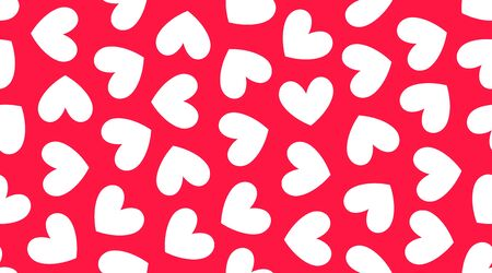 Hearts background, pink white color. Cute vector seamless pattern for valentine day card, wedding abstract decoration.