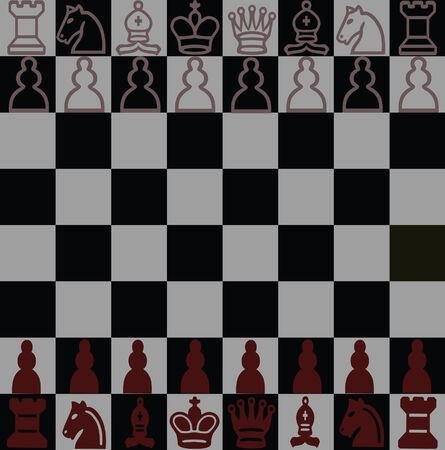 chess board black Vector