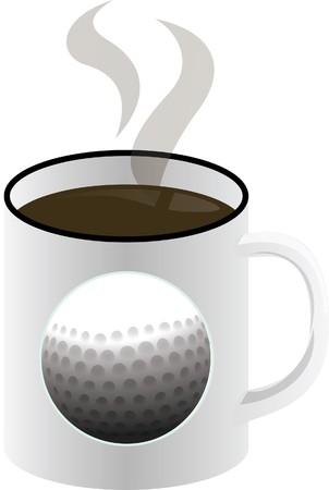 coffee golf Stock Vector - 6857481
