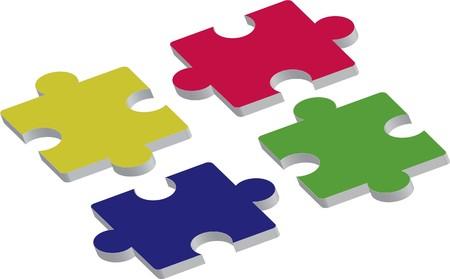 three dimensional: three dimensional puzzle pieces