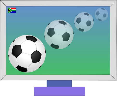 football game on television Vector