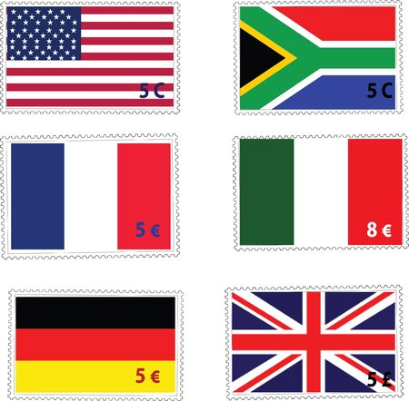 collectibles: flag stamps