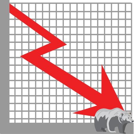 bear market: bear market Illustration