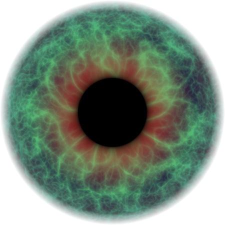 ojo destacó y tensas con inflamación Roja