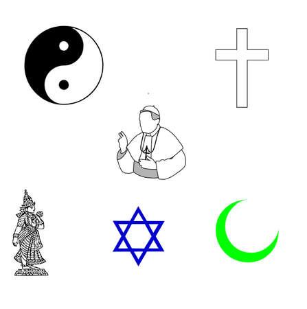 simbolos religiosos: s�mbolos religiosos Foto de archivo