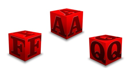 FAQ Stock Photo - 12745108