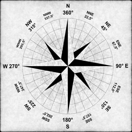 old compass ith a gray grungy background photo
