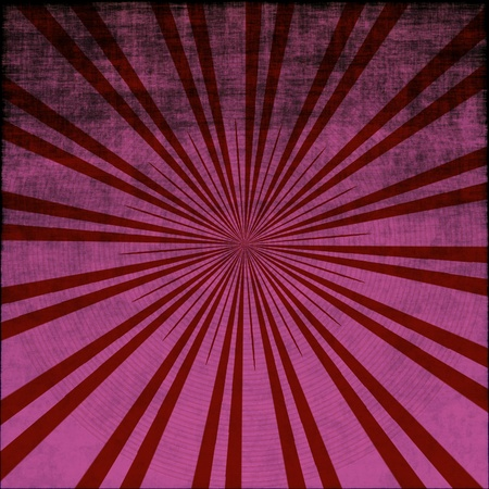 A background of grungy red starburst with radiating rays photo