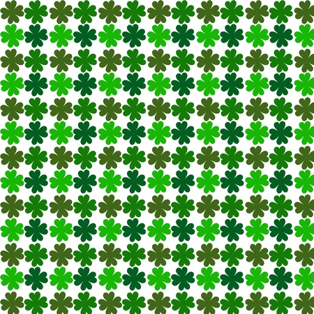 four pattern: lucky four leaf clovers Stock Photo