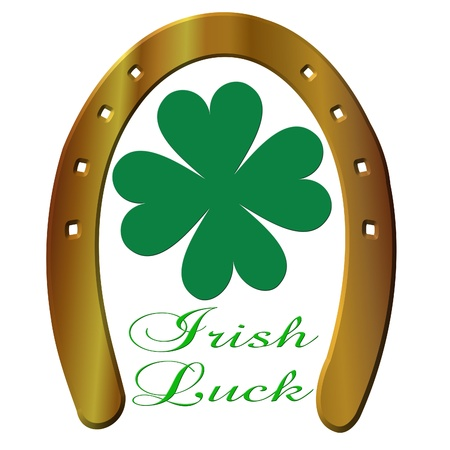 Irish luck and horseshoe photo