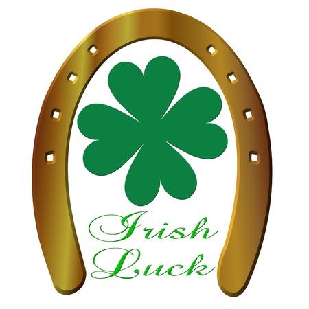 Irish luck and horseshoe Stock Photo - 12745111