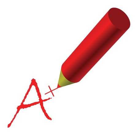 A Plus sign  of grading in exams Vector